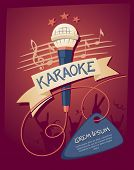 Karaoke-Night-Club. Vektor-Illustration auf ein musikalisches Thema-party