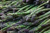 Pile of green Asparagus at the farmers market