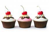 Cupcakes de helado sundae