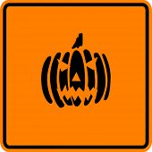 halloween jack o lantern pumpkin sign
