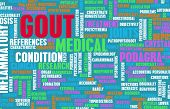 stock photo of gout  - Gout Concept as a Medical Inflammatory Condition - JPG