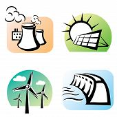 Power Plants Set, Energy Concept