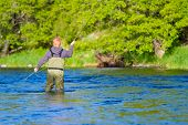 Fly Fisherman Deschutes River