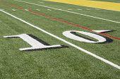 10 yard line on American Football field