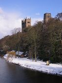 Durham Cathedral In The Snow