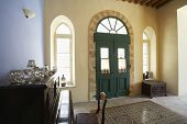 Entrance hall of antique Mediterranean town house