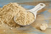 stock photo of tablespoon  - maca root powder  - JPG