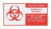 Etiologic Agents Warning Label