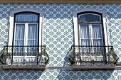 Iron balconies in Lisbon, Portugal