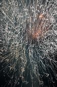 fireworks at slow shutter speed