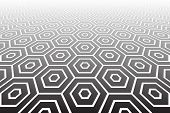 picture of spatial  - Hexagons textured  surface - JPG
