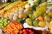 Colorful Fresh Fruit On Display At Atlanta Farmers Market
