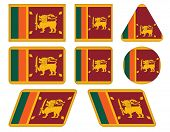 Buttons With Flag Of Sri Lanka