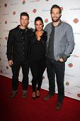 LOS ANGELES - JAN 5:  Parker Young, Angelique Cabral, Geoff Stults at the BCS National Championship