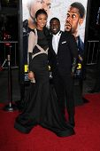 LOS ANGELES - JAN 13:  Eniko Parish, Kevin Hart at the