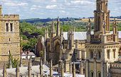 View Of Roofs And Spires Of Oxford