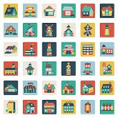 Set Of Flat House Icons