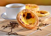 picture of pasteis  - Traditional asian dessert egg tarts - JPG
