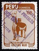 Postage Stamp Peru 1984 Lama, Ceramic Figurine