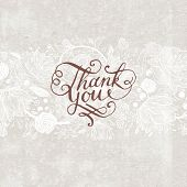 image of courtesy  - Hand Made Calligraphy Lettering Thank You - JPG
