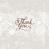 stock photo of thankful  - Hand Made Calligraphy Lettering Thank You - JPG