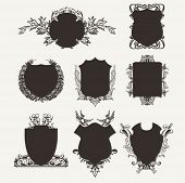 Silhouette Shield Frames Set.