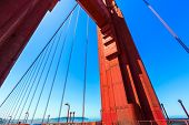 Golden Gate Bridge detail in San Francisco California USA