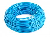 Roll of blue electic wire