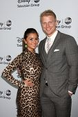 LOS ANGELES - JAN 17:  Catherine Giudici, Sean Lowe at the Disney-ABC Television Group 2014 Winter Press Tour Party Arrivals at The Langham Huntington on January 17, 2014 in Pasadena, CA