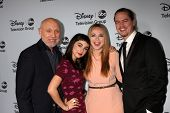 LOS ANGELES - JAN 17:  Hector Elizondo, Molly Ephraim, Amanda Fuller, Christoph Sanders at the ABC TCA Winter 2014 Party at The Langham Huntington on January 17, 2014 in Pasadena, CA