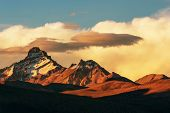 High mountains in Bolivia