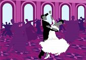 foto of waltzing  - Ballroom dancing - JPG