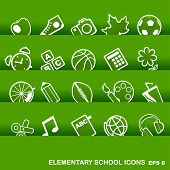 Education Icons, Basics, Elementary School