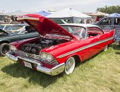 1958 Red Plymouth Car
