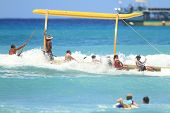 Outrigger Canoe Tipping