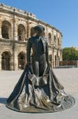 Monument Of Matador In Front Of Arenas Of Nimes