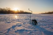 Ice Fishing Scene