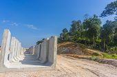 Drain concrete