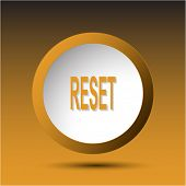 Reset. Plastic button. Raster illustration.