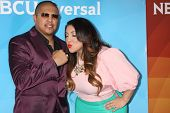 LOS ANGELES - JAN 19:  Fernando Vargas, Martha Vargas at the NBC TCA Winter 2014 Press Tour at Langh