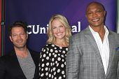 LOS ANGELES - JAN 19:  Nate Berkus, Monica Pedersen, Eddie George at the NBC TCA Winter 2014 Press T