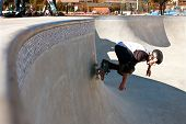 Veteran Skateboarder Skates Big Bowl