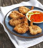 Coconut Shrimp. Butterfly Shrimp In A Crunchy Coating