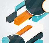 Vector Abstract Arrows Background Illustration