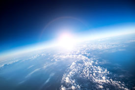 foto of ozone layer  - Photo Planet Earth aerial view - JPG