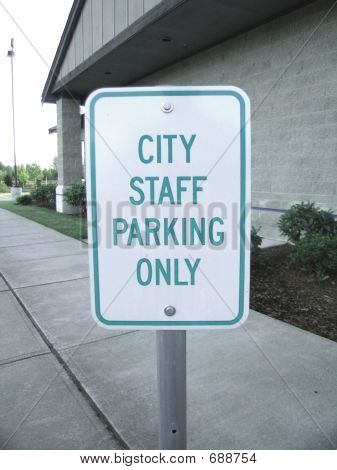poster of CITY STAFF PARKING ONLY Sign