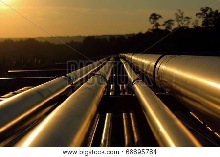 Pipeline Connection  From Crude Oil Field poster