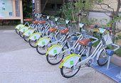 Bicycle for hire Kanazawa Japan