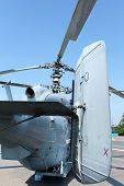 picture of attack helicopter  - the Attack  military helicopter Kamov rear view - JPG