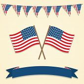 American decorations. Vector illustration.